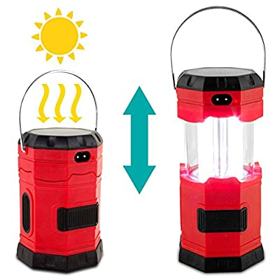 3-Way Powered Solar LED Lantern - with USB Charger