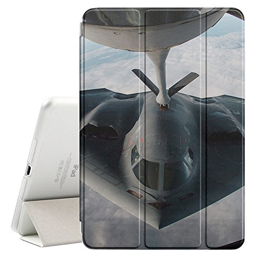 STPlus Fighter Jet War Air Force Smart Cover With Back Case + Auto Sleep/Wake Funtion + Stand for Apple iPad 2017 (Air Force Ipad)
