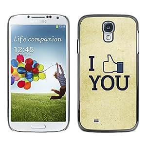 TECHCASE**Cubierta de la caja de protección la piel dura para el ** Samsung Galaxy S4 I9500 ** I Like You FB