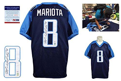 Marcus Mariota Signed Custom Jersey - PSA/DNA - Autographed - Pro Style - Navy