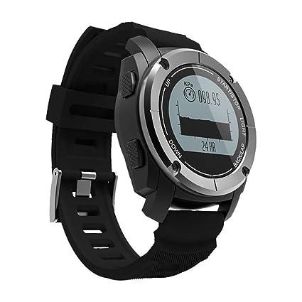 OOLIFENG GPS Al Aire Libre Reloj Aventurero Relojes Incluye Barómetro Funciones para Triatlón Alpinismo Excursionismo,