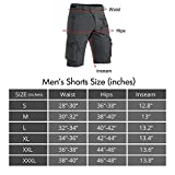 Hiauspor Mens Hiking Shorts Casual Cargo Shorts
