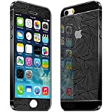 3D Diamond Mirror Front + Back Tempered Glass Screen Protector For Iphone 5 /5S (Black) By Mobile Life