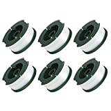 GARDENOK Line String Trimmer Replacement Spool [ Compatible with Black & Decker AF-100/Replacement Autofeed Spool ], 30ft 0.065', 3-Pack or 6-Pack Optional (6-Pack)