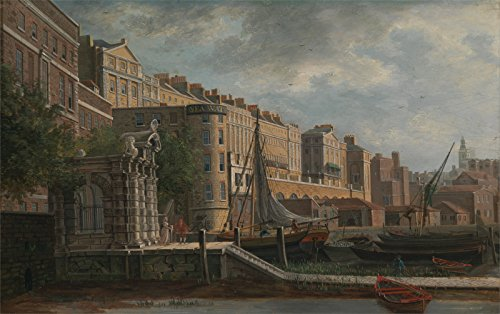 Daniel Turner - York Water-Gate And The Adelphi - Small - Semi Gloss - Brown Frame