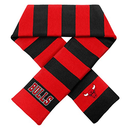 Forever Collectibles Chicago Bulls Official NBA Adult One Size Striped Rugby Scarf by 381728 by Forever Collectibles
