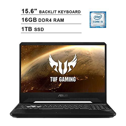 2020 ASUS TUF 15.6 Inch FHD 1080P Gaming Laptop (9th Gen Intel 4-Core i5-9300H up to 4.1GHz, NVIDIA GTX 1650 4GB, 16GB DDR4 RAM, 1TB SSD, Backlit KB, WiFi, Bluetooth, HDMI, Win10)