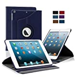 KHOMO Apple iPad Air Case - Blue 360 Degree Rotating Stand Case Cover With Built-in magnet for sleep / wake feature For iPad Air Tablet