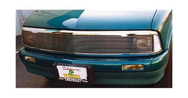 APS Compatible with 94-97 Chevy S10 Blazer Phantom Black Main Upper Billet Grille N19-H33258C