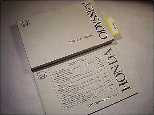 2002 Honda Odyssey Owners Manual: Honda: Amazon.com: BooksAmazon.com