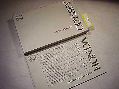 2002 honda odyssey owners manual honda amazon com books rh amazon com 2002 honda odyssey ex owners manual 2002 honda odyssey owners manual pdf