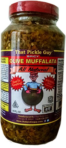 That Pickle Guy New Orleans Style Classic Olive Muffalata, Spicy, All Natural, 24-ounce
