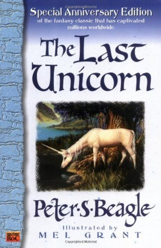 Book cover from The Last Unicorn by Peter S. Beagle