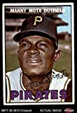 1967 Topps # 66 Manny Mota Pittsburgh Pirates (Baseball Card) Dean's Cards 3 - VG Pirates