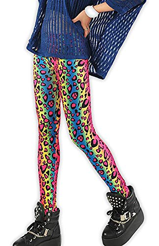 Rainbow Cheetah Zebra Animal Print Leggings