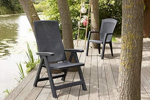 ajustable Lehne silla de jardín Silla de ratán 2er set de ratán terrazas sillón