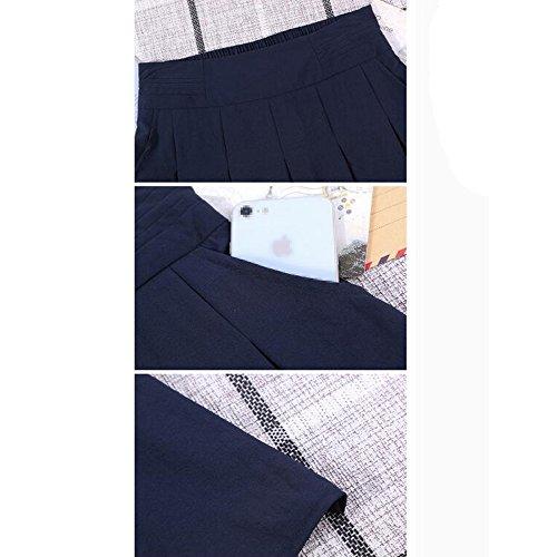 Lady Jupes vase La Sexy Femmes Taille Longueur Jupe D't ligne lastique De Plage Taille Les Plisse Blue Plus A 0FfZSw