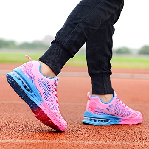 Sport Unisexo Cushion al Deportes Rosa Air Aire Fitness Lightweight Running Zapatos Shoes Libre RrqpErFtwx
