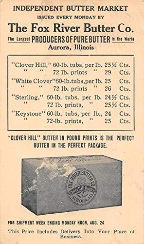 Aurora Illinois Fox River Butter Co Advertising Vintage Postcard JC932182