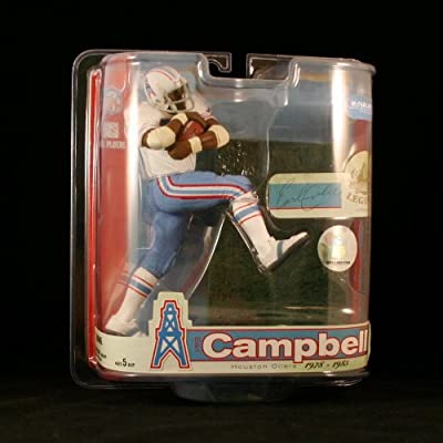 VARIANT EARL CAMPBELL / HOUSTON OILERS * WHITE JERSEY VARIANT * McFarlane 6 Inch NFL LEGENDS SERIES 3 Sports Picks Action Figure