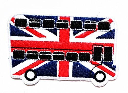 ndon Bus UK Flag cartoon kids for Clothes Backpacks T-shirt Jeans Skirt vests scarf Hat Bag (Denim London Skirt)