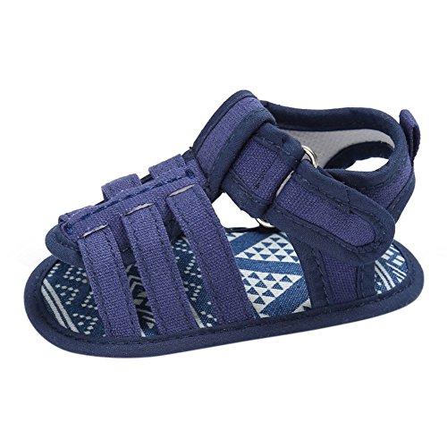Sandalias De Bebe,BOBORA Prewalker Zapatos Primeros Pasos Para Bebe El Bebe Nino Lona Hueco Sandalias Clasicas Casuales azul