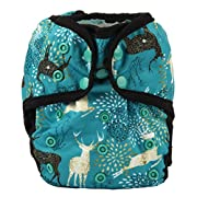 One Size Cloth Diaper Cover Snap With Double Gusset (Blue Deer)