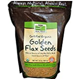 Now Foods Golden Flax Seeds Organic, 2 lb (Pack of 6)