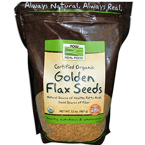 Now Foods, Real Food, Certified Organic Golden Flax Seeds, 32 oz (907 g) - 3PC by NOW Foods