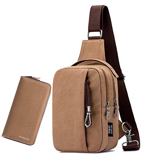Fashion Bag Casual Chest Backpack Bag D Bags Bag Single Canvas Man I Outdoor Messenger Shoulder qqEfFP