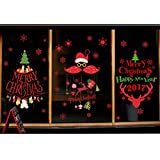 Rain's Pan Cartoon Merry Christmas Santa Claus Decorations Decal Window Stickers