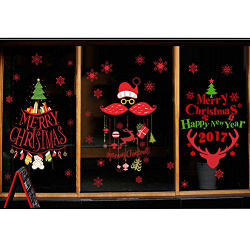 Rain's Pan Cartoon Merry Christmas Santa Claus Decorations Decal Window Stickers by Rain's Pan Decals