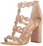 Sam Edelman Women's Yuli Heeled Sandal, Oatmeal, 9.5 Medium US