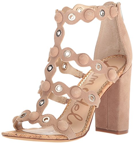 Sam Edelman Women's Yuli Heeled Sandal, Oatmeal, 7.5 Medium US