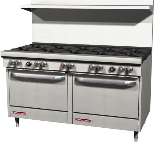 Southbend S-Series 60-Inches Gas Restaurant Range, 10 Open Burner, 2 Standard Ovens