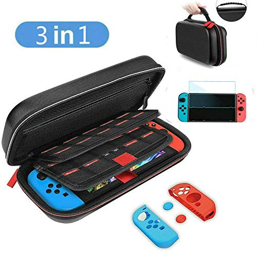 Carrying Case for Nintendo Switch, Funcilit Nintendo Switch Travel Carry Case Bag, Protective Portable Shell Pouch Nintendo Switch Screen Protector Cover for Nintendo Switch Console & Accessories