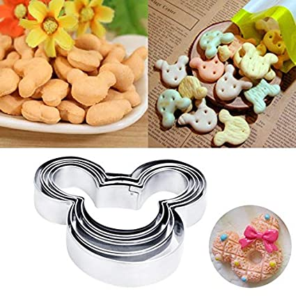 5Pcs//Set Fondant Cake Decorating Tool DIY Heart Shape Cookie Cutters Mold New