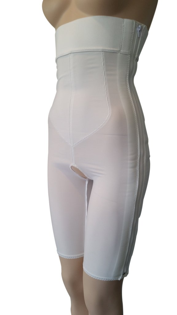High Waist Liposuction Compression Garment, Above the Knee, Post Surgery Girdle, Plastic Surgery (44'' - 49'' hip measurement) by LipoGarments