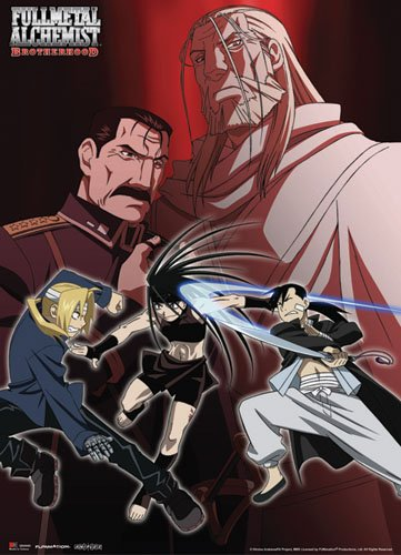 Great Eastern Entertainment Full Metal Alchemist Brotherhood Ed and Ling Vs. Envy Wall Scroll, 33 by 44-Inch