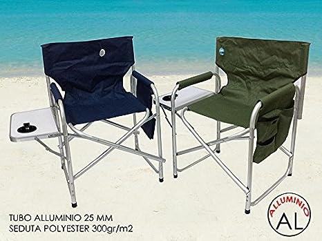 Girm® ge798043 verde sedia da regista verde in alluminio con