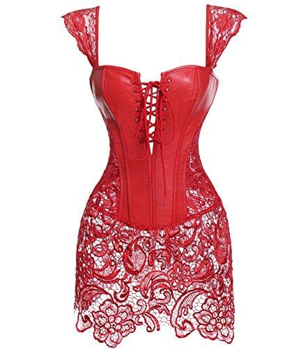 Kleid korsage leder
