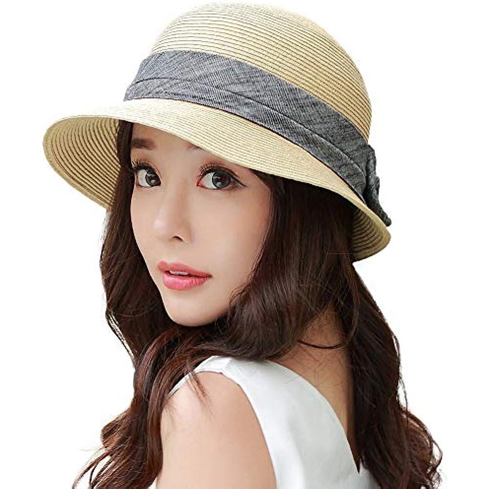 Details about Sun Hats Womens Floppy Summer Beach Straw UPF50+ Foldable  Bucket Cloche 56-59CM 523b981f02