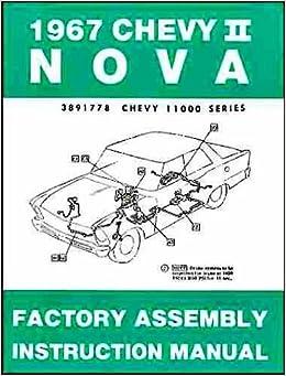 67 chevrolet nova wiring diagram 1967 chevy ii   nova factory assembly instruction manual covers  1967 chevy ii   nova factory assembly