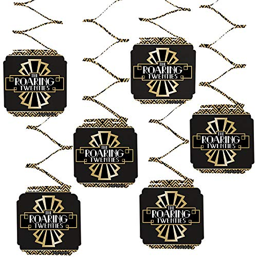 Big Dot of Happiness Roaring 20's - 1920s Art Deco Jazz Party Hanging Decorations - 6 Count ()