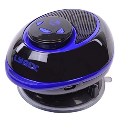 lyrix-duo-2-in-1-bluetooth-speaker-w-removable-receiver-suction-cup-mount-blue-black-consumer-electr