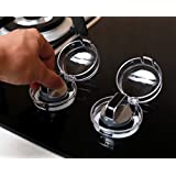 QUNQI STAR Stove Knob Covers, Safety Kitchen Gas Stove Hood Knob Switch Protection Cover - Clear, 6 Count