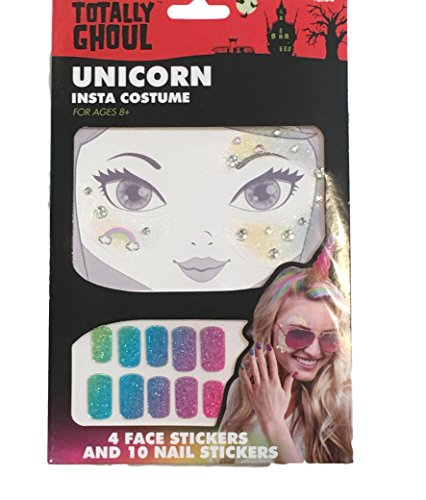 Totally Ghoul Girls Halloween Face Sticker Tattoos &