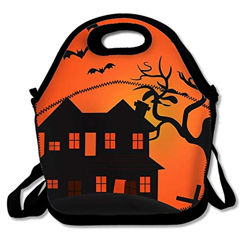 Halloween Scary Scene Lunch Tote Bag Bags Awesome Lunch Handbag Lunchbox Box For School Work Outdoor