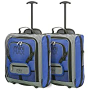 MiniMAX Childrens/Kids Luggage Carry On Trolley Suitcase with Backpack and Pouch for Your Favourite Doll/Action Figure…