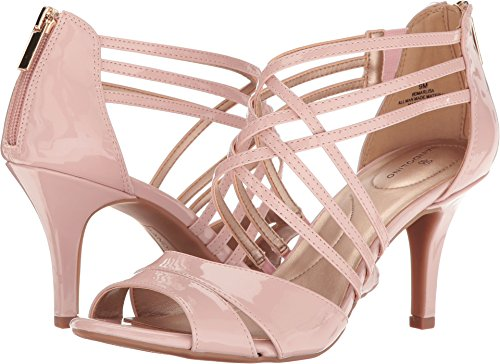 Bandolino Women's Marlisa Heeled Sandal, Dusty Pink, 7 M US (Pink Sandals Shoes Heels)